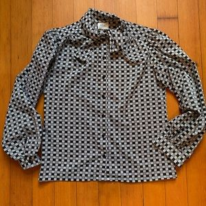 Vintage black and white blouse